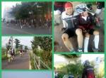 4일차 국토대장정 모습, 라이딩 및 넘어진 모습, 자전거 정비하는 모습 등