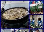 식사 및 선물을 준비하는 모습과 본원 거주인들의 식사 보조하는 모습
